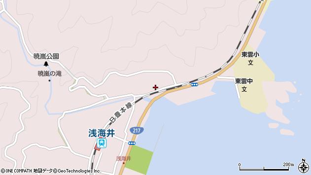 大分県佐伯市上浦大字浅海井浦162周辺の地図