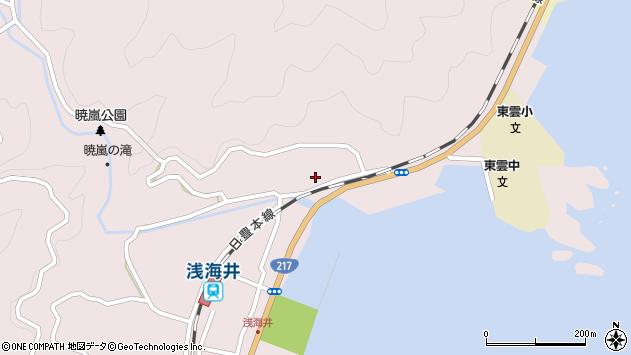 大分県佐伯市上浦大字浅海井浦164周辺の地図