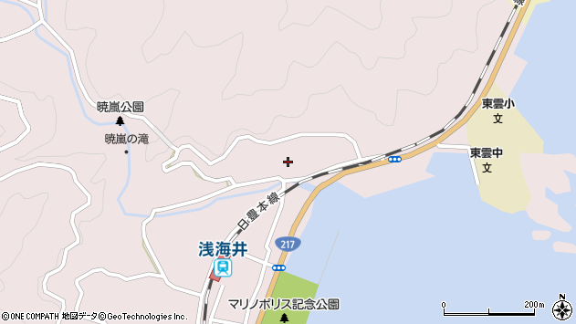大分県佐伯市上浦大字浅海井浦209周辺の地図