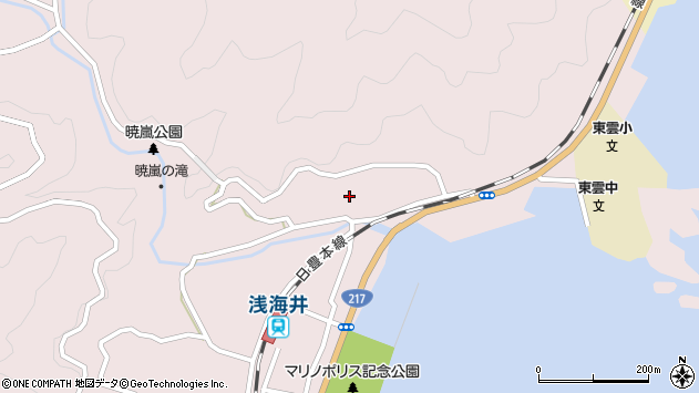 大分県佐伯市上浦大字浅海井浦208周辺の地図