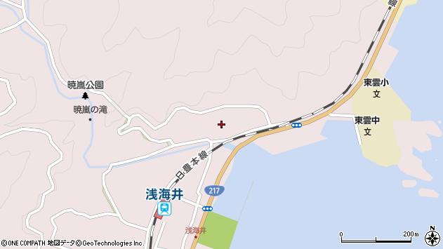 大分県佐伯市上浦大字浅海井浦183周辺の地図