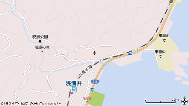 大分県佐伯市上浦大字浅海井浦207周辺の地図
