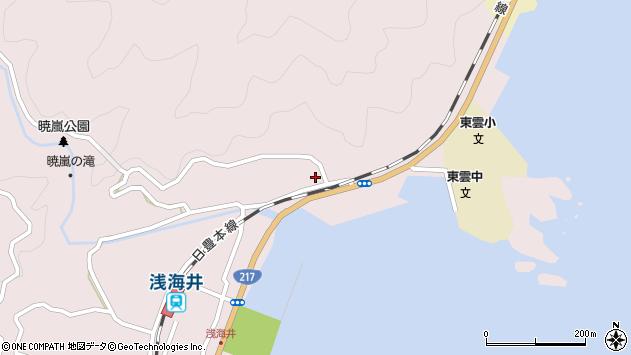 大分県佐伯市上浦大字浅海井浦134周辺の地図
