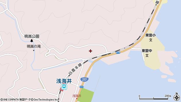 大分県佐伯市上浦大字浅海井浦173周辺の地図