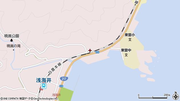 大分県佐伯市上浦大字浅海井浦129周辺の地図