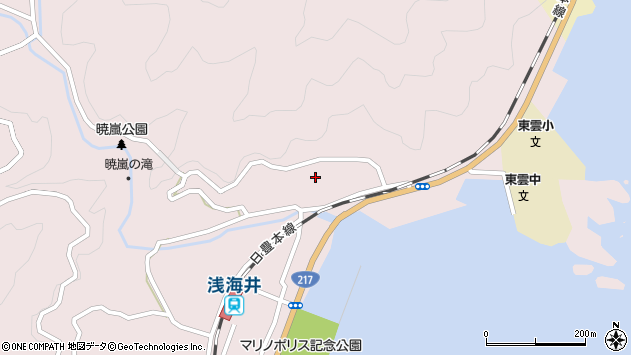 大分県佐伯市上浦大字浅海井浦184周辺の地図