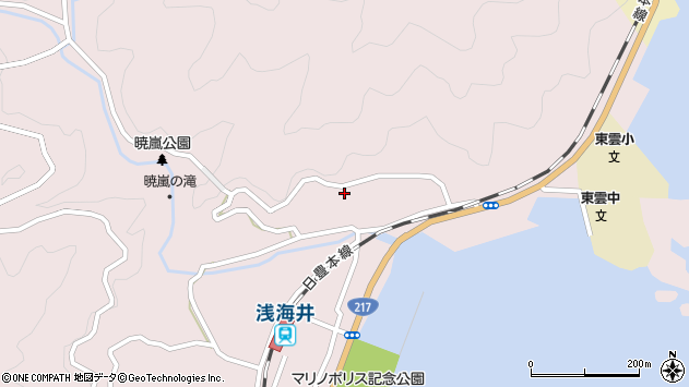 大分県佐伯市上浦大字浅海井浦204周辺の地図