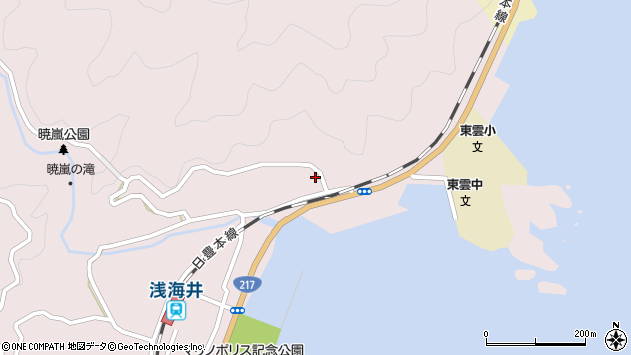 大分県佐伯市上浦大字浅海井浦132周辺の地図