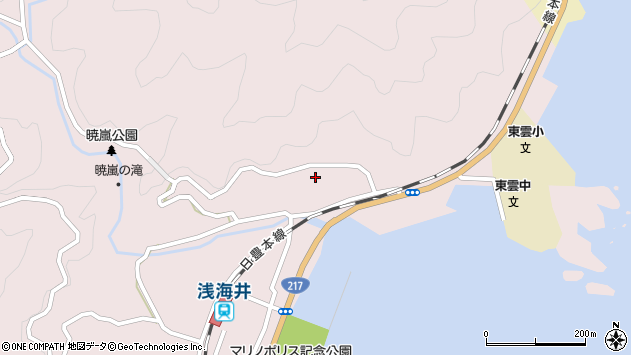 大分県佐伯市上浦大字浅海井浦172周辺の地図