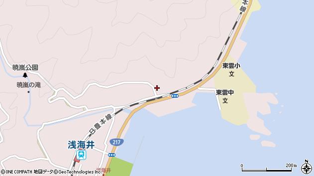 大分県佐伯市上浦大字浅海井浦130周辺の地図