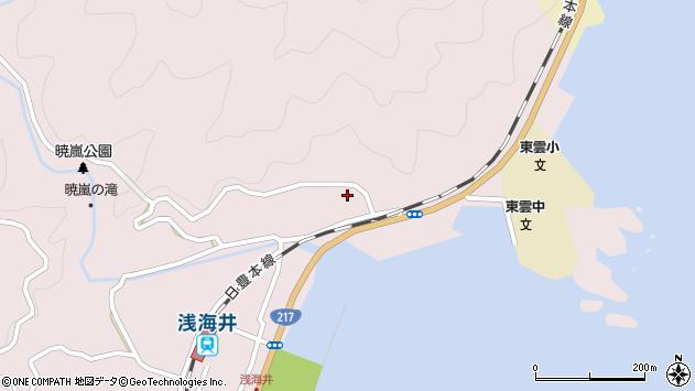 大分県佐伯市上浦大字浅海井浦138周辺の地図