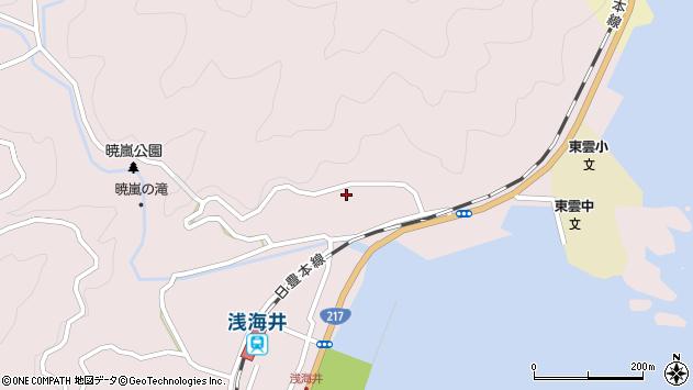 大分県佐伯市上浦大字浅海井浦186周辺の地図