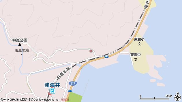 大分県佐伯市上浦大字浅海井浦135周辺の地図