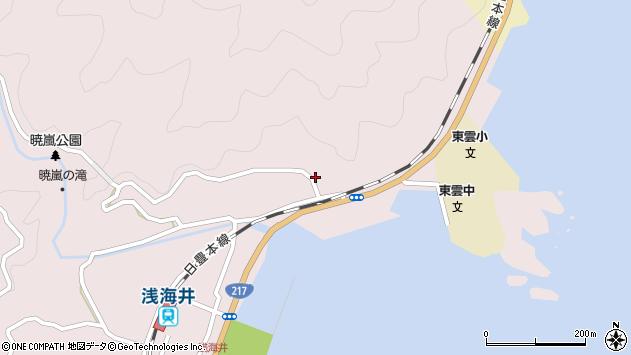 大分県佐伯市上浦大字浅海井浦131周辺の地図