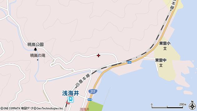 大分県佐伯市上浦大字浅海井浦170周辺の地図