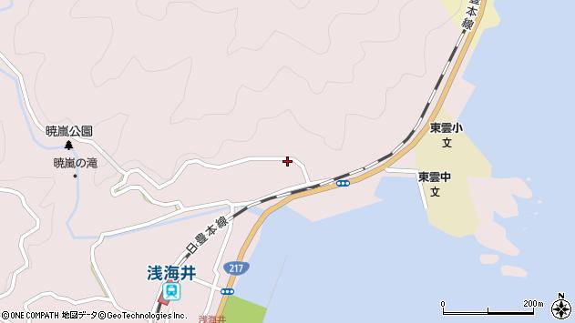 大分県佐伯市上浦大字浅海井浦137周辺の地図