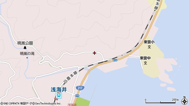 大分県佐伯市上浦大字浅海井浦152周辺の地図