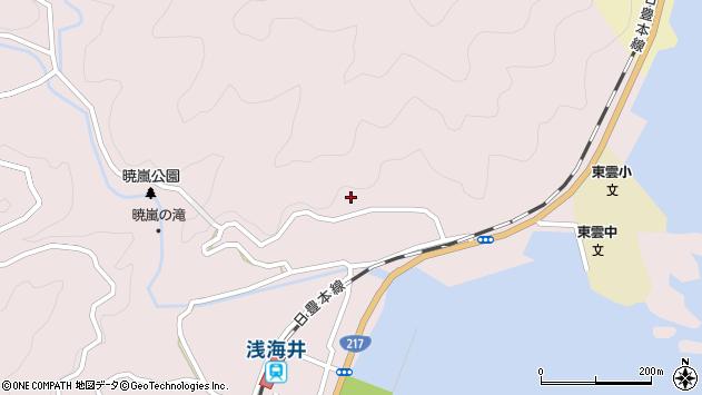 大分県佐伯市上浦大字浅海井浦190周辺の地図