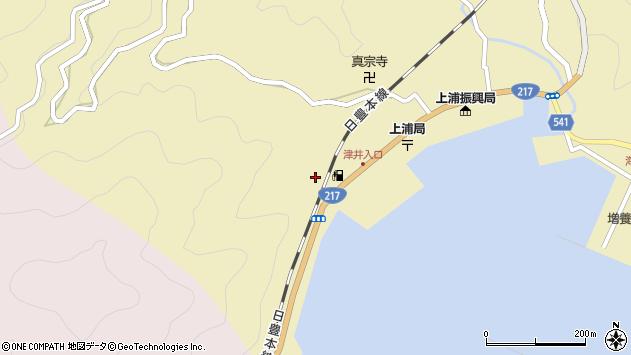 大分県佐伯市上浦大字津井浦2247周辺の地図
