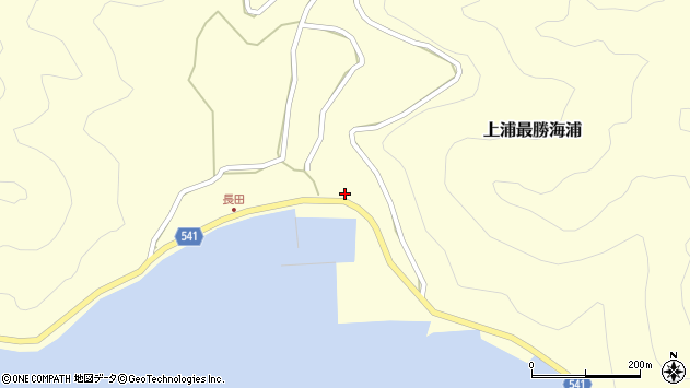 大分県佐伯市上浦大字最勝海浦3625周辺の地図