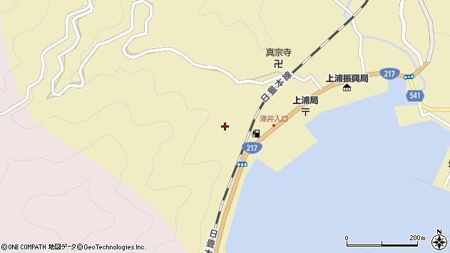 大分県佐伯市上浦大字津井浦2173周辺の地図