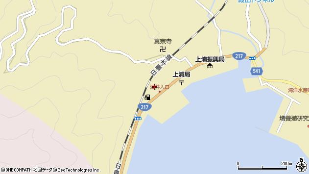 大分県佐伯市上浦大字津井浦2148周辺の地図
