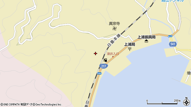 大分県佐伯市上浦大字津井浦2168周辺の地図
