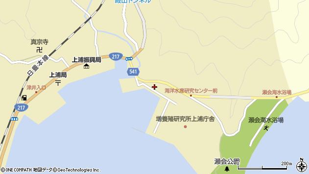 大分県佐伯市上浦大字津井浦194周辺の地図