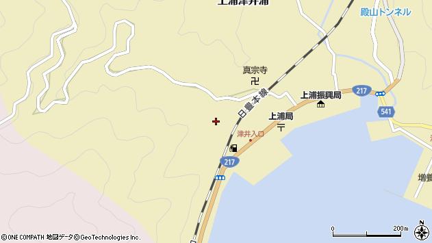 大分県佐伯市上浦大字津井浦2054周辺の地図