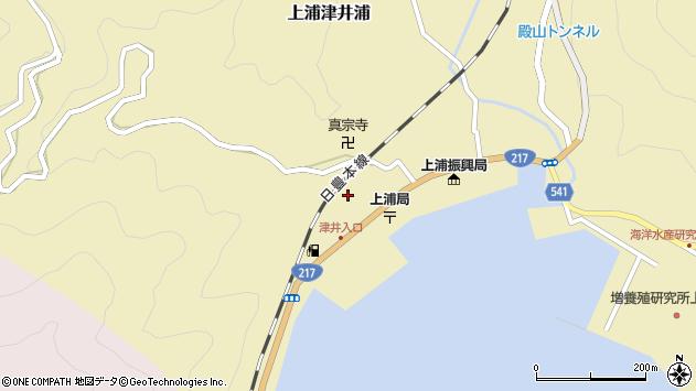 大分県佐伯市上浦大字津井浦2106周辺の地図