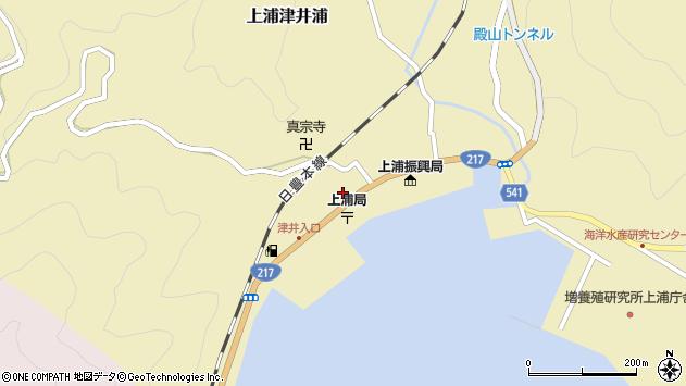 大分県佐伯市上浦大字津井浦2131周辺の地図