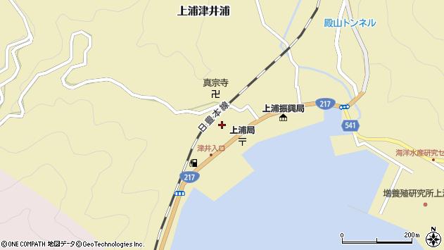 大分県佐伯市上浦大字津井浦2118周辺の地図