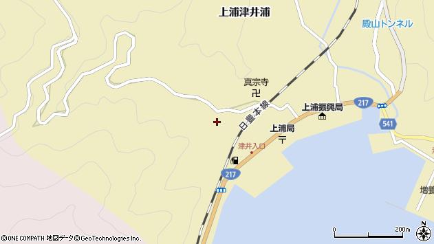 大分県佐伯市上浦大字津井浦2050周辺の地図