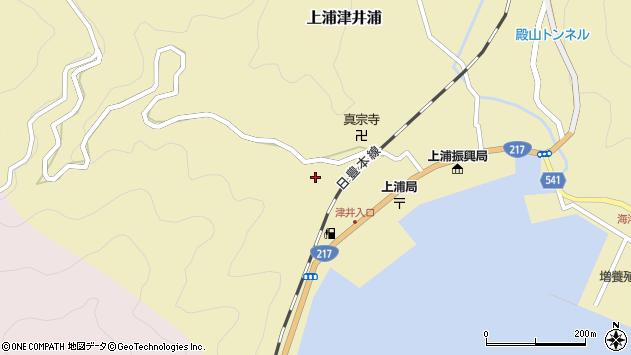 大分県佐伯市上浦大字津井浦2072周辺の地図