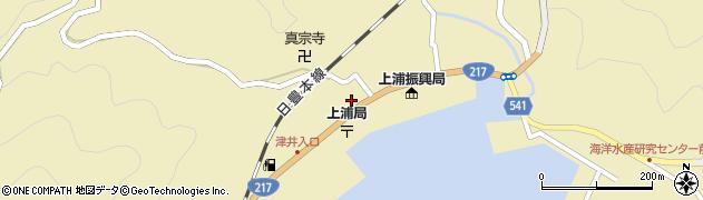 大分県佐伯市上浦大字津井浦1474周辺の地図