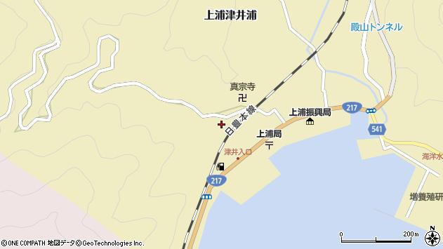 大分県佐伯市上浦大字津井浦2079周辺の地図