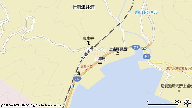 大分県佐伯市上浦大字津井浦2129周辺の地図