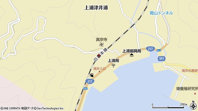 大分県佐伯市上浦大字津井浦2104周辺の地図