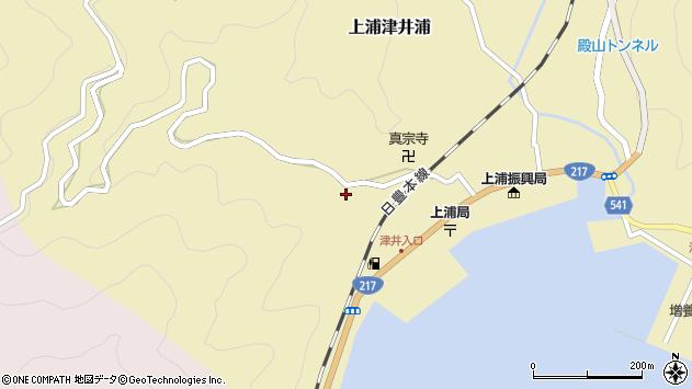 大分県佐伯市上浦大字津井浦2041周辺の地図