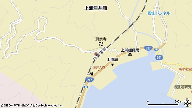 大分県佐伯市上浦大字津井浦2092周辺の地図