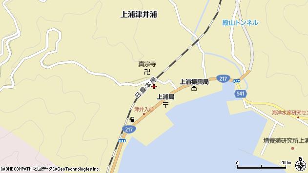 大分県佐伯市上浦大字津井浦2115周辺の地図