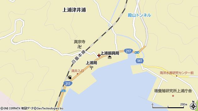大分県佐伯市上浦大字津井浦1459周辺の地図