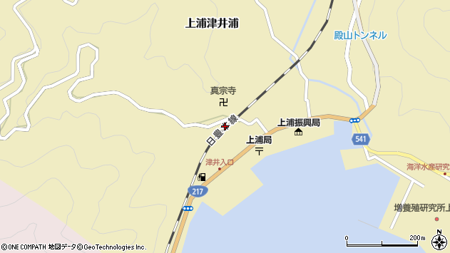 大分県佐伯市上浦大字津井浦2110周辺の地図