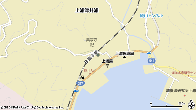 大分県佐伯市上浦大字津井浦2124周辺の地図