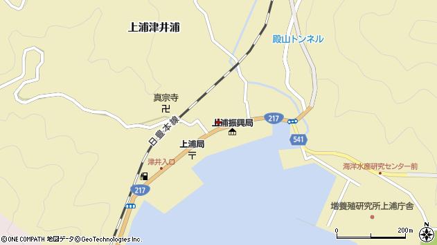 大分県佐伯市上浦大字津井浦1400周辺の地図