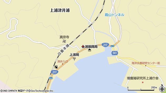 大分県佐伯市上浦大字津井浦1450周辺の地図
