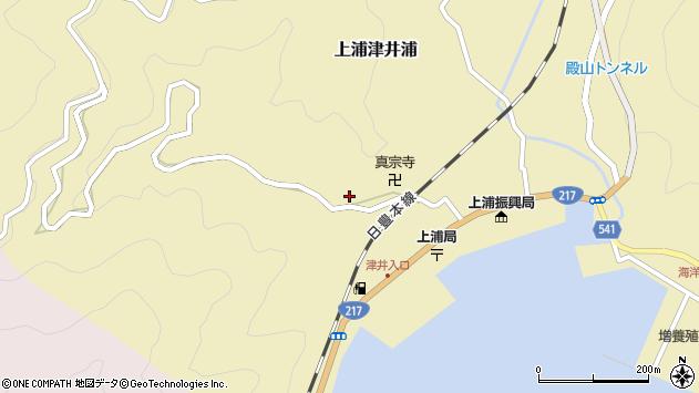 大分県佐伯市上浦大字津井浦1993周辺の地図