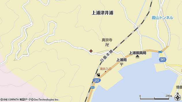 大分県佐伯市上浦大字津井浦1990周辺の地図