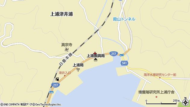 大分県佐伯市上浦大字津井浦1423周辺の地図