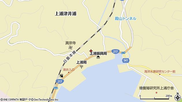 大分県佐伯市上浦大字津井浦1441周辺の地図